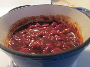 Beans and Smoked Turkey Sausage (Beans and Weenies) 007