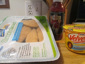 Breaded Chicken Breast Tenders w Velveeta Shells and Cheese 009