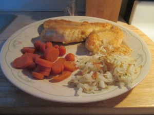 Fried Red Snapper w Hash Browns and Sliced Carrots 007