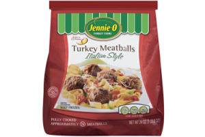 Jennie - O Fully Cooked Italian Style Turkey Meatballs