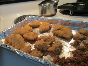 Pilgrim Chicken Strips Baking