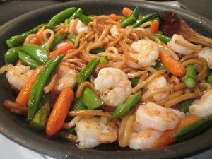 Stir-Fry Shrimp with Udon Noodles 005