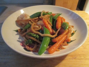Stir-Fry Shrimp with Udon Noodles 009