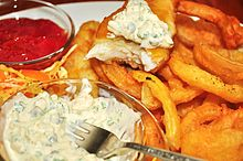 Tartar sauce is often served with fried seafood