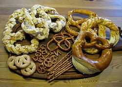 An assortment of pretzels