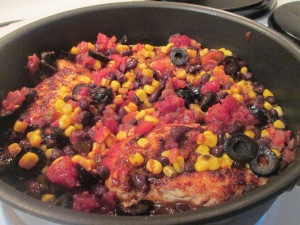 Black Bean Chicken with Rice 006