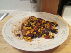 Black Bean Chicken with Rice 009