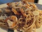 Cilantro and Lime Seasoned Shrimp w Thin Spaghetti and Baked Ita010