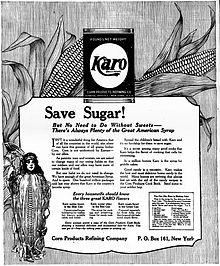 Karo advertisement, 1917.