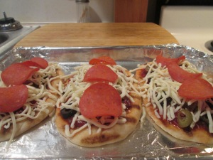 Mini Flatbread Pepperoni and Sausage Pizza 007