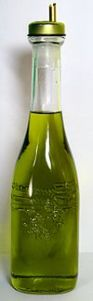 A bottle of Italian olive oil