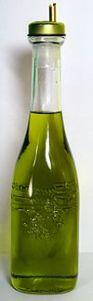 A bottle of Italian olive oil