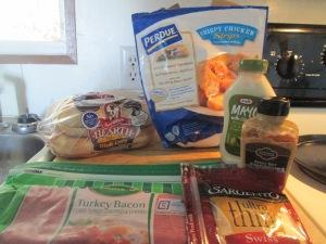 Chicken, Turkey Bacon, and Swiss Sandwich w Hash Browns 001
