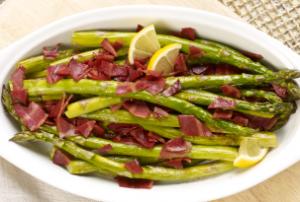 Roasted Asparagus with Turkey Bacon