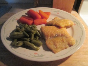 Seasoned Haddock w Whole Baby Carrots and Cut Green Beans 002