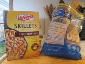 Skillet Chicken Bacon Ranch Dinner w Baked Italian Loaf Bread 003