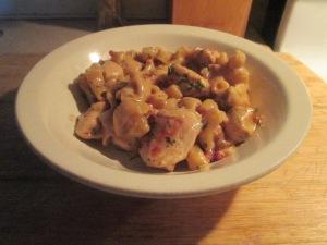 Skillet Chicken Bacon Ranch Dinner w Baked Italian Loaf Bread 011