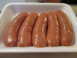 Sweet Italian sausages - Raw