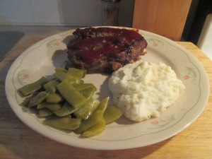 Tender Spareribs Recipe w Mashed Potatoes and Cut Italian Beans 008
