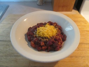 3 Bean Turkey Chili w Johnny Cakes 006