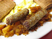Another view of breakfast sausage