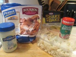 Bourbon Glazed Chicken Breast Chunks w Crispy Parmesan Cauliflo 004