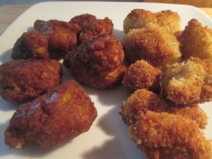 Bourbon Glazed Chicken Breast Chunks w Crispy Parmesan Cauliflo 013