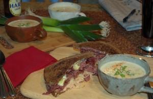 Buffalo Pastrami Reuben Sandwich