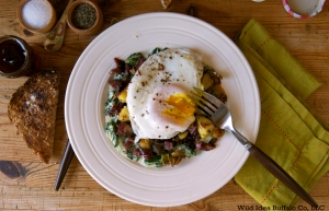 Corned Buffalo Hash and Creamed Spinach