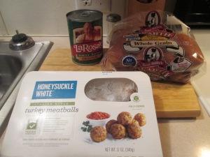 Turkey Meatball Mini Sub w Baked Crinkle Fries 001