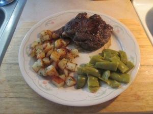 Wild Idea Buffalo Ribeye Steak (10 OZ.) w Cut Italian Green Bean 012