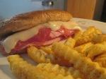 Baked Ham, Salami, and Swiss Mini Sub w Baked Crinkle Fries004