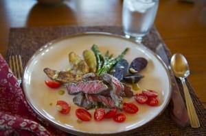 Grilled Buffalo Steak and Potato Salad