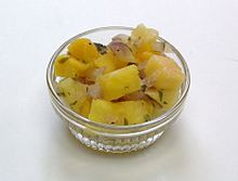 Mango pineapple salsa,