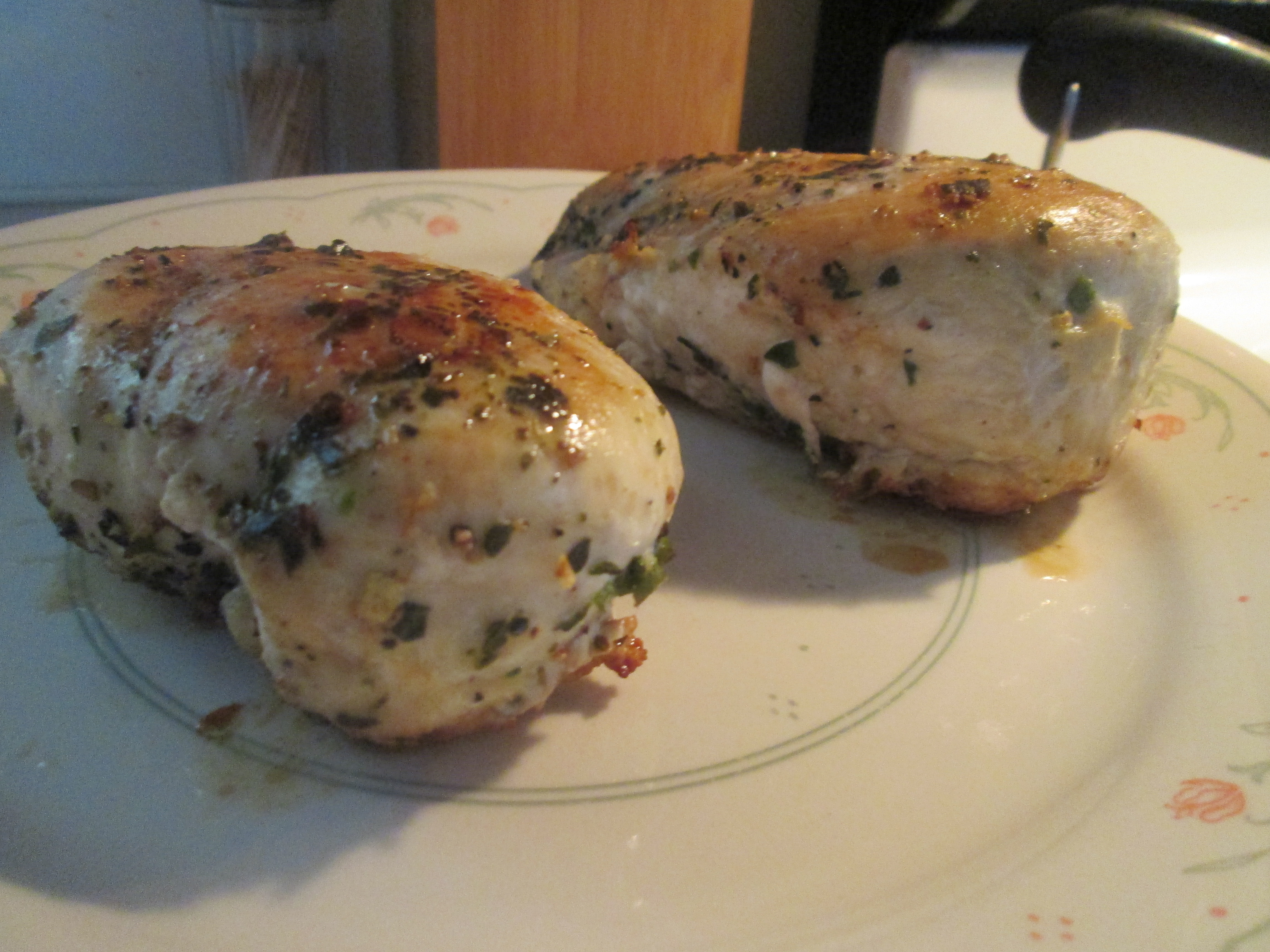 Pan Seared Oven Roasted Skinless Boneless Chicken Breast W