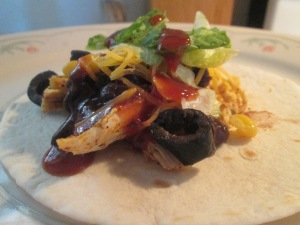 Pulled Chicken, Black Bean, and Corn Soft Tacos 006