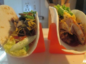 Pulled Chicken, Black Bean, and Corn Soft Tacos 012