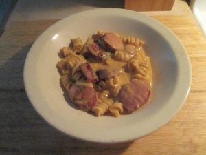 White Cheddar Chipotle Pasta and Hardwood Smoked Turkey Sausage 006