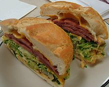 A sandwich featuring pork roll at a delicatessen in New Jersey