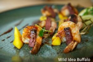 B.B.Q. Summer Sausage & Shrimp Skewers