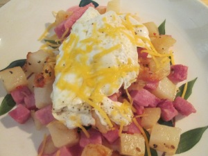 Diced Potatoes, Ham, and Egg 003