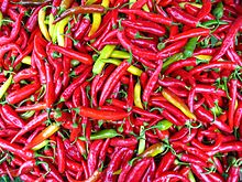 Fresh chilis are the main ingredient for a sambal