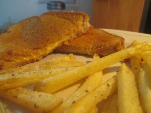 Grilled Cheese and Baked Fries 004