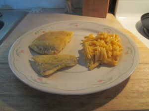 Seasoned Haddock w Mac and Cheese 008