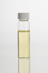 Sesame seed oil in clear glass vial