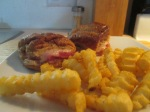 Baked Ham and Swiss Sliders w Baked Crinkle Fries015