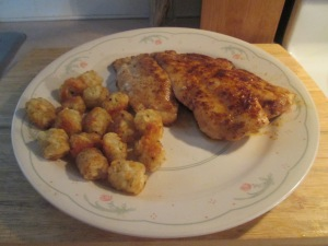 Blackened Gulf Coast Grouper w Baked Potato Puffs 001