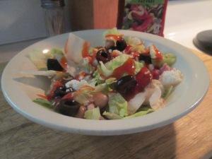 Cuban Hash w Tossed Salad 009
