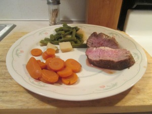 Cumin Spiced Pork Tenderloin Beans Potatoes Carrots 001