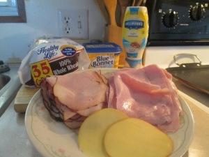 Grilled Ham and Turkey Sandwich 002